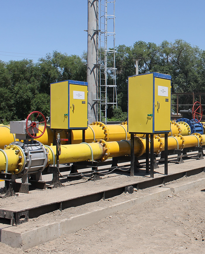 Узел учета расхода газа газорегуляторного пункта ГГРП